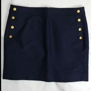 10 J.Crew navy blue sailor skirt 70676 pockets
